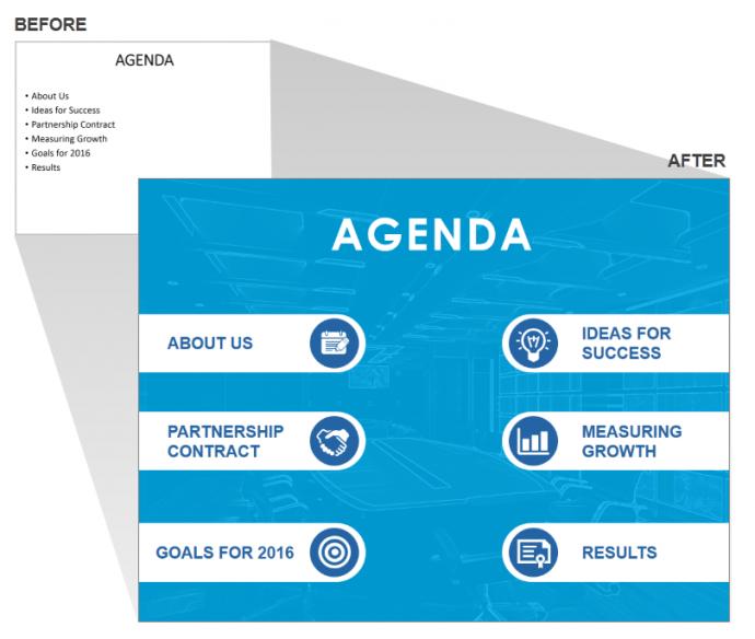 Design Impressive Agenda Slide for PowerPoint Presentation