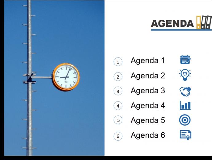 Impressive Professional Presentation Agenda Slide
