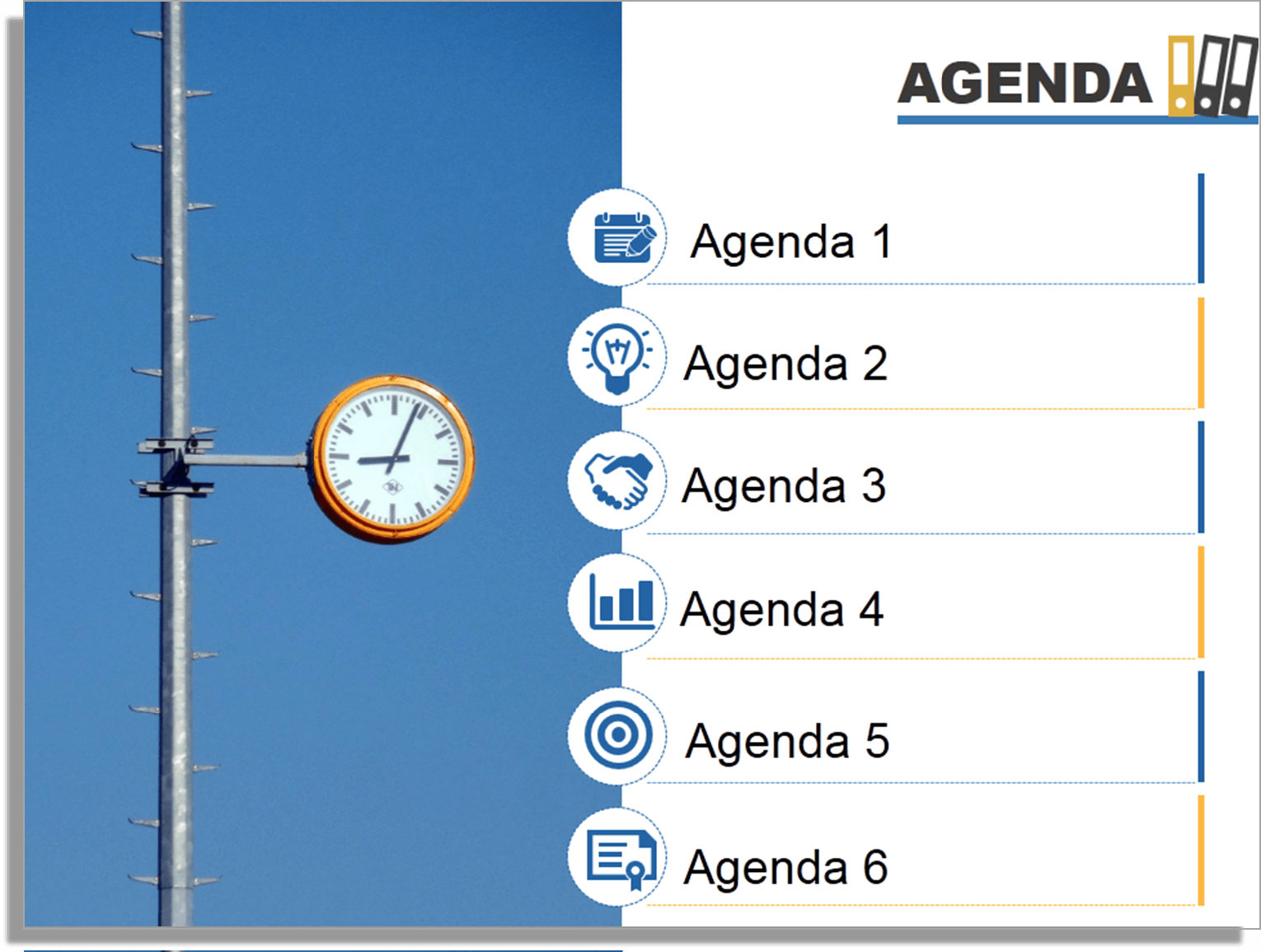 How to create a fantastic powerpoint agenda slide template in 5 need more design ideas for agenda slide alramifo Image collections
