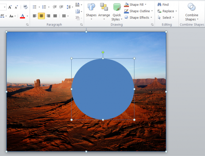 Cover the area you wish to highlight with circle