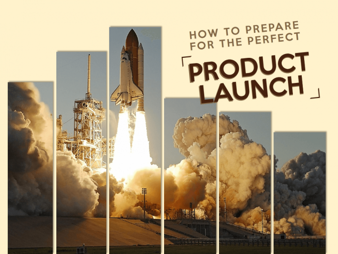 Product launch slide looks hard hitting with the split image of a rocket launch