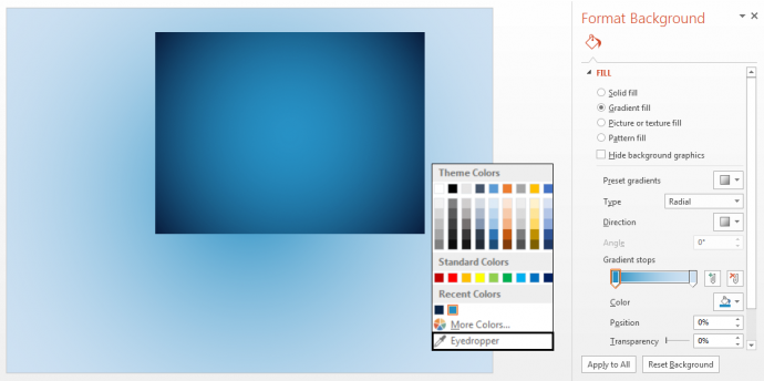 Use eyedropper to extract the colors