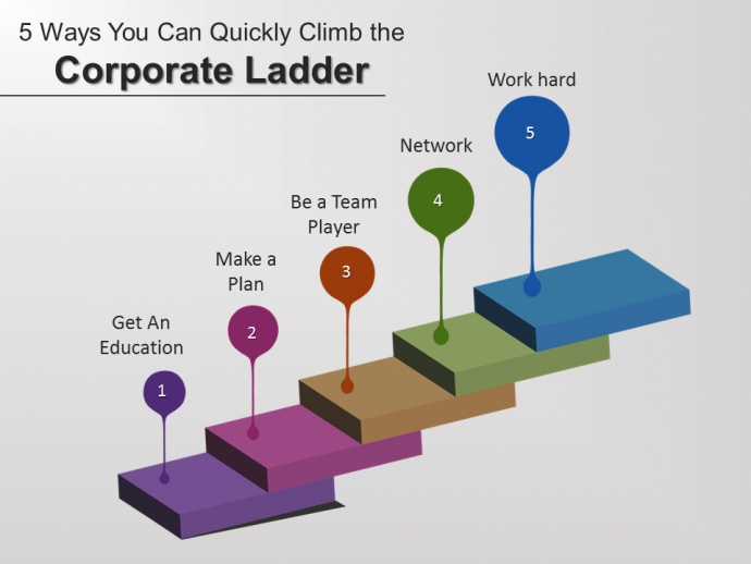 Climb the ladder PowerPoint slide
