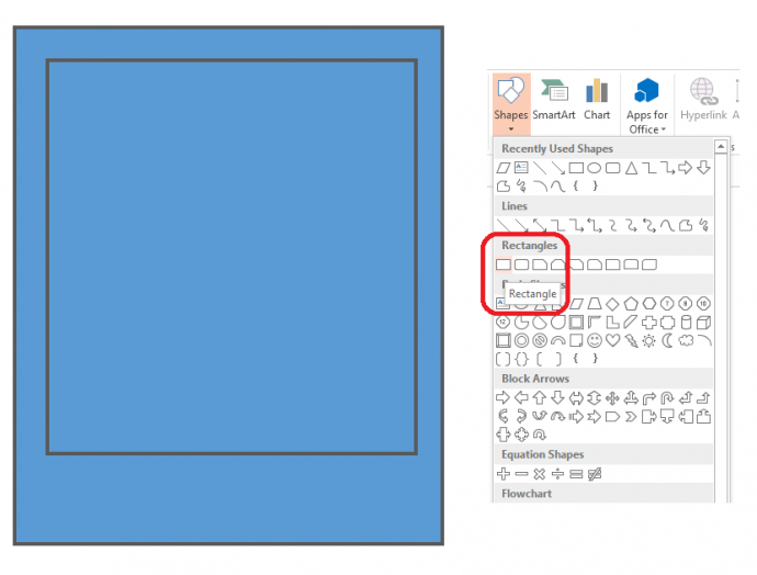 Select and draw two rectangles