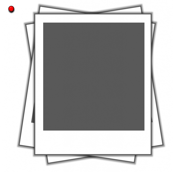Draw a small red circle with black outline