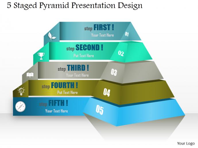 powerpoint tutorial #8- how to create a stunning 2d and 3d pyramid, Modern powerpoint