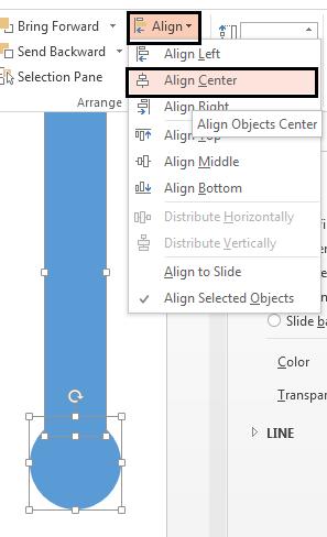 Align Center the rectangle