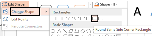 Change the Shape of rectangle