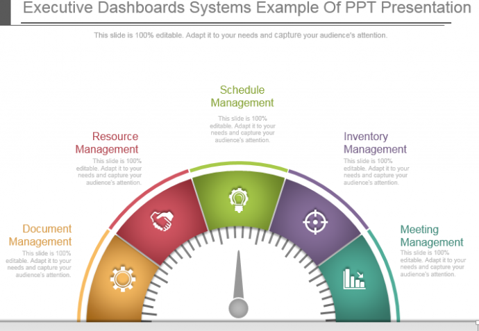 9ff9ef142 Executive gauge dashboard PowerPoint templates