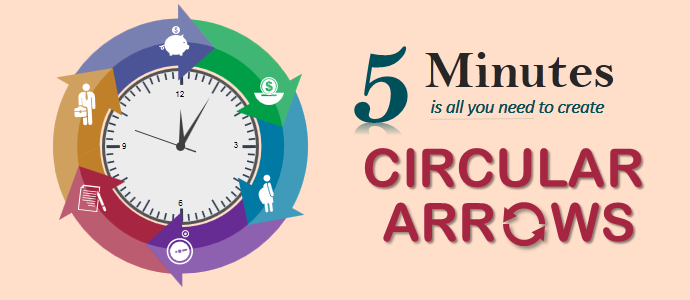 powerpoint tutorial #5- simplest way to create circular arrows in, Powerpoint templates