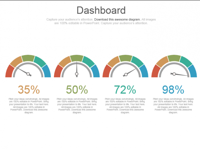 powerpoint tutorial #13- make an impressive speedometer dashboard, Powerpoint templates