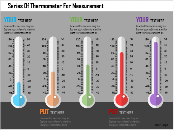 Series of Thermometer Reading Template