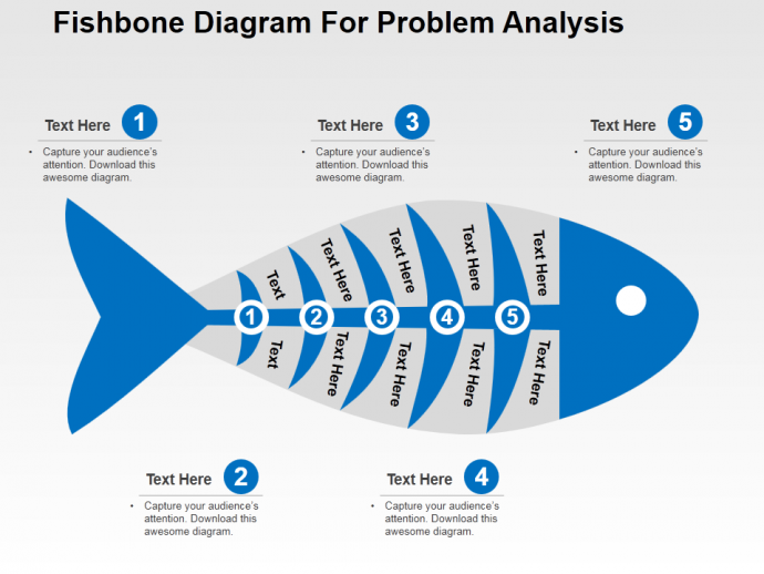 Powerpoint tutorial 4 cool way to create a fishbone diagram for stunning fishbone diagram template for problem analysis ccuart Choice Image