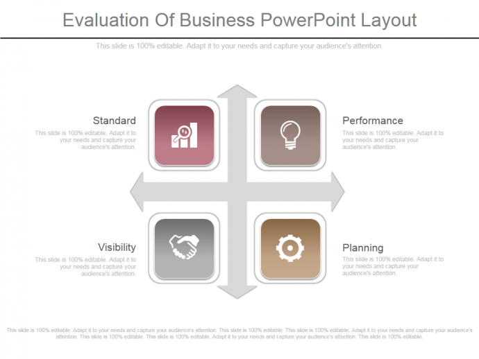 Custom evaluation of business powerpoint layout