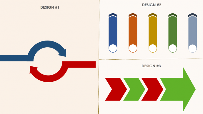 Customized Arrow Diagrams for Professional Look
