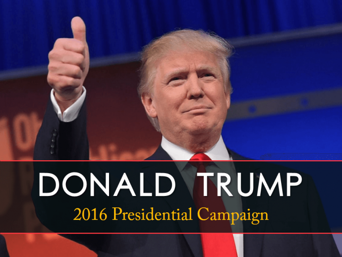 Transparent banner added behind the text- Slide looks great and Donald Trump too