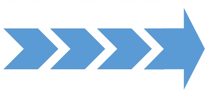 Arrow and chevron placed together