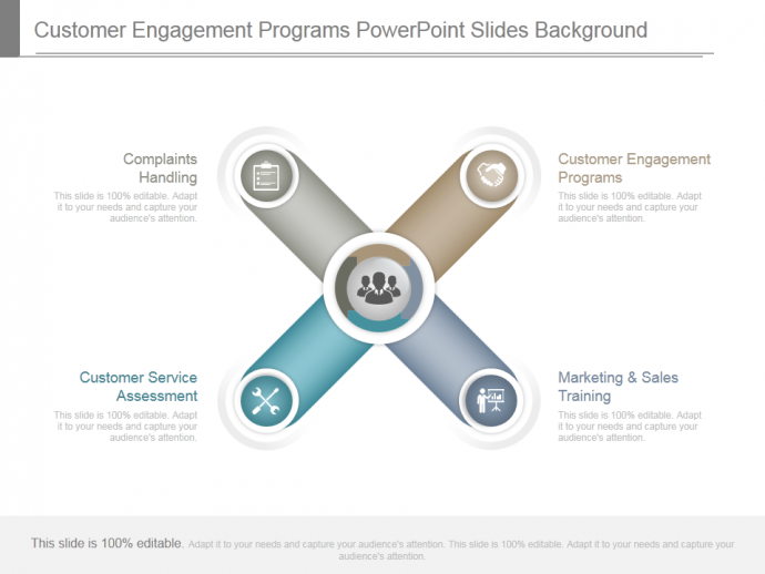 Customer engagement programs powerpoint slides background