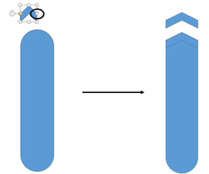 Increase the length of the chevron