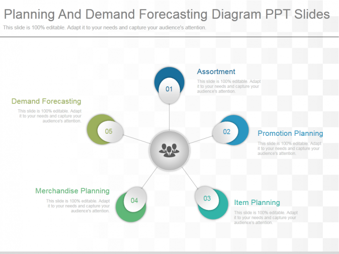 Planning and demand forecasting diagram ppt slides