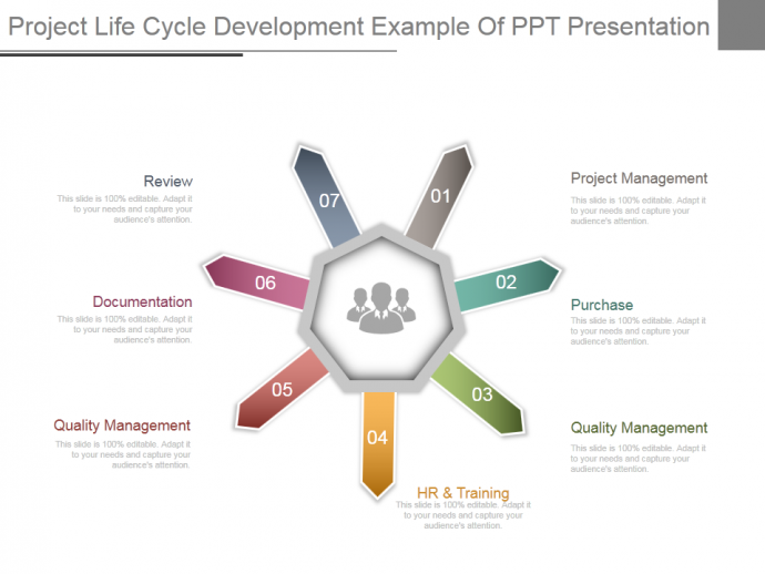 Project life cycle development example of ppt presentation