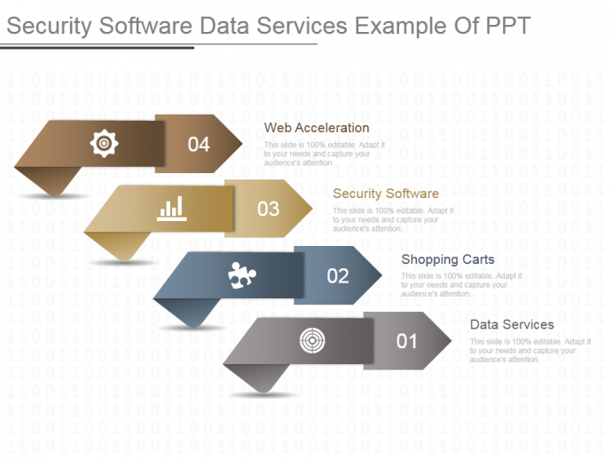 Security software data services example of PPT