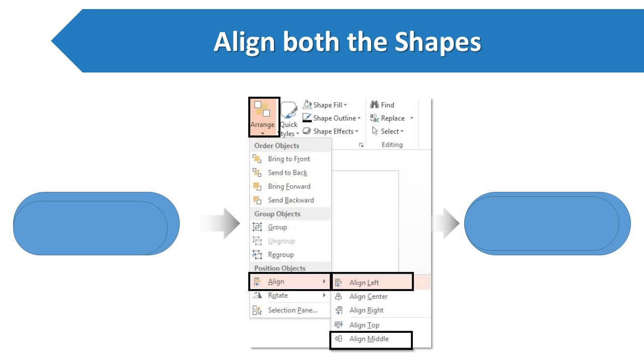 How to create a stunning circular flow chart in powerpoint the remove the outlines from both the shapes right click both the shapes outline no outline pooptronica