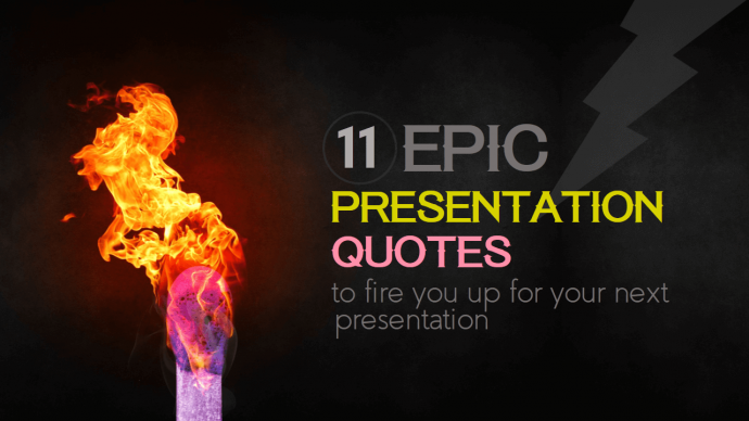Presentation cover slide with customized fonts