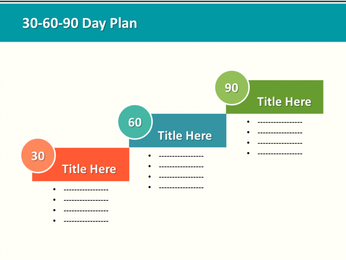 30-60-90 Day Plan Designs That'll Help You Stay on Track | The ...