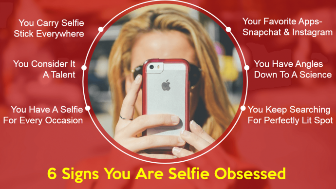 Stand Out Effect for a Presentation Slide on Selfie Addiction