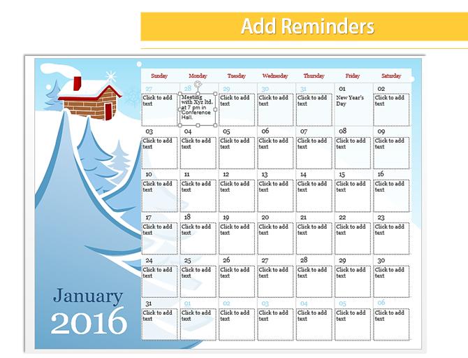 power point calendar template