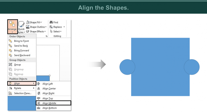 Align the shapes