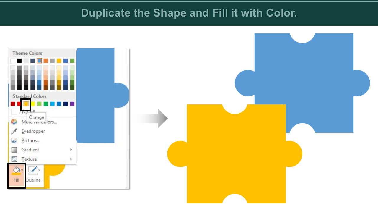 The Simplest Way To Create Puzzle Pieces In Powerpoint Template Stack Process Diagram With 5 Stages Templates Slideteam Blog
