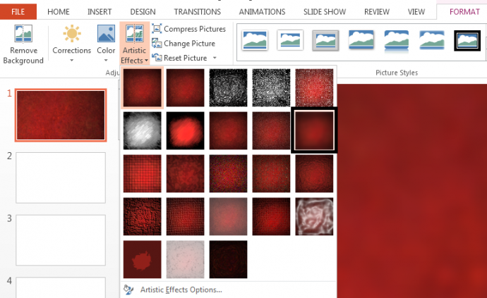 Step 2- Apply Blur Effect on Slide Background