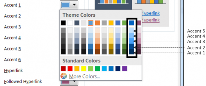 Changing Accent Colors in Slide Master