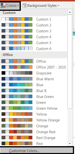 Customize Colors in Slide Master