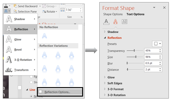 Customize Text Effects and their Properties in PowerPoint