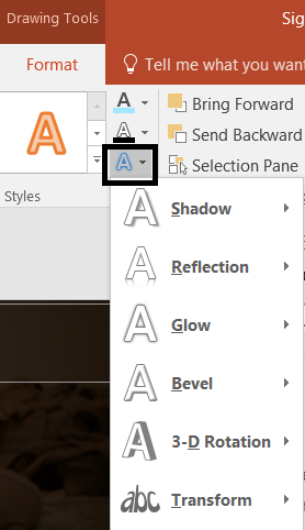 Text Effects in PowerPoint