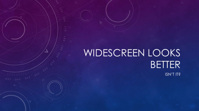 Widescreen aspect ratio is superior to standard screen slide size
