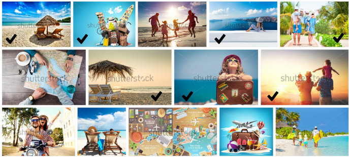 Choosing stockphotos based on the Rule of Thirds