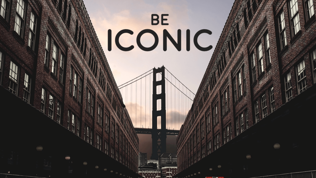 Be Iconic Presentation Slide- Visual Cues Lead Eye to One Area in the Center
