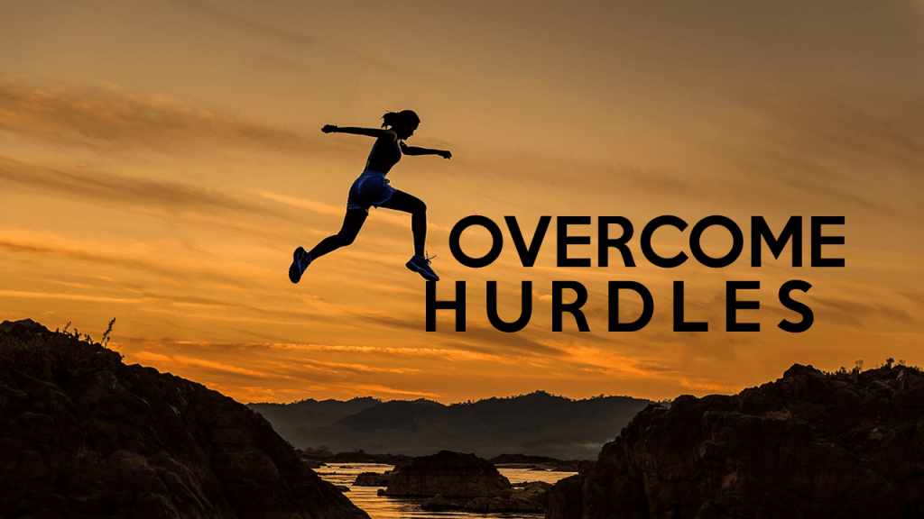 How to Overcome Hurdles in Life- Text Designed to Add Meaning to Slide