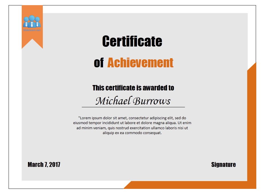 How To Create Certificate Of Achievement Templates In PowerPoint ...
