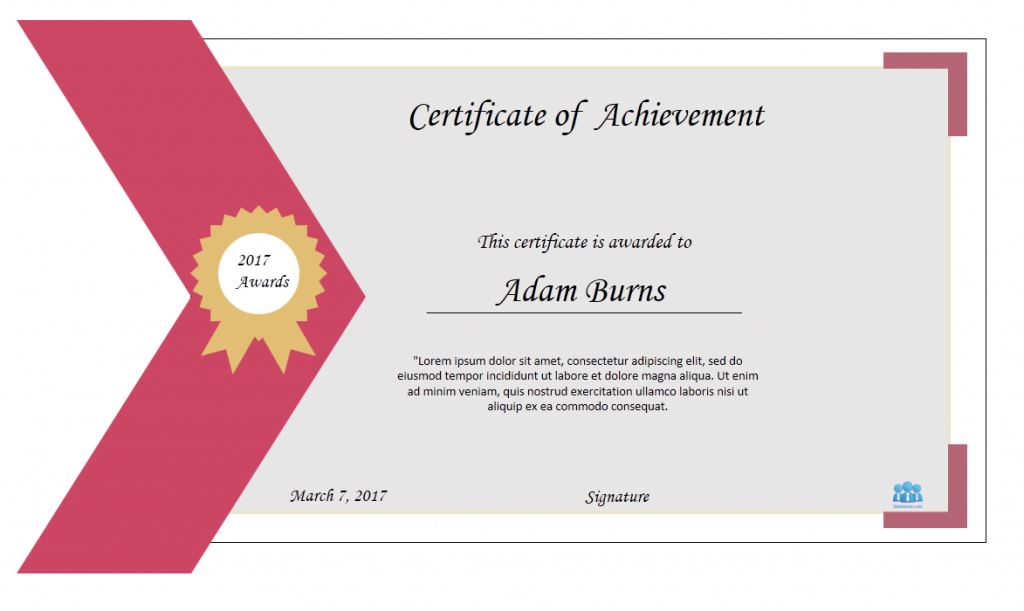 how to create certificate of achievement templates in