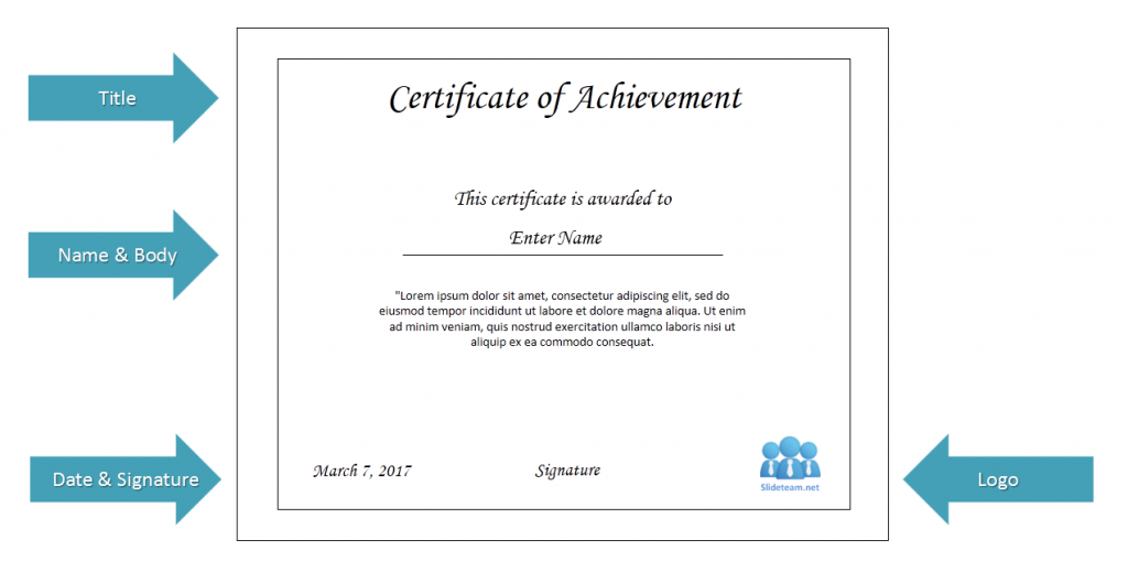samples of certificate of achievement