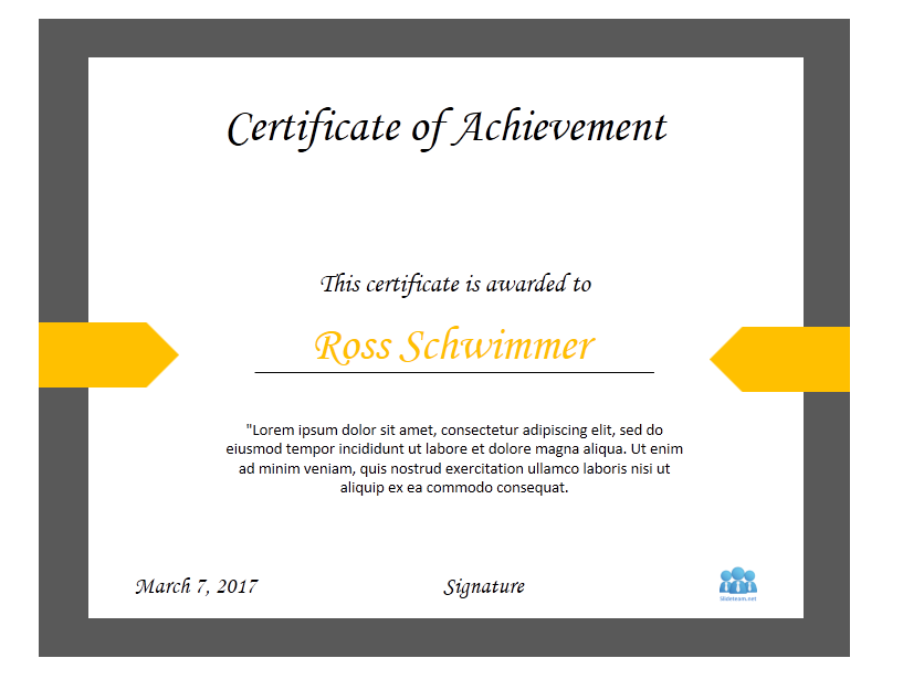 How To Create Certificate Of Achievement Templates In Powerpoint