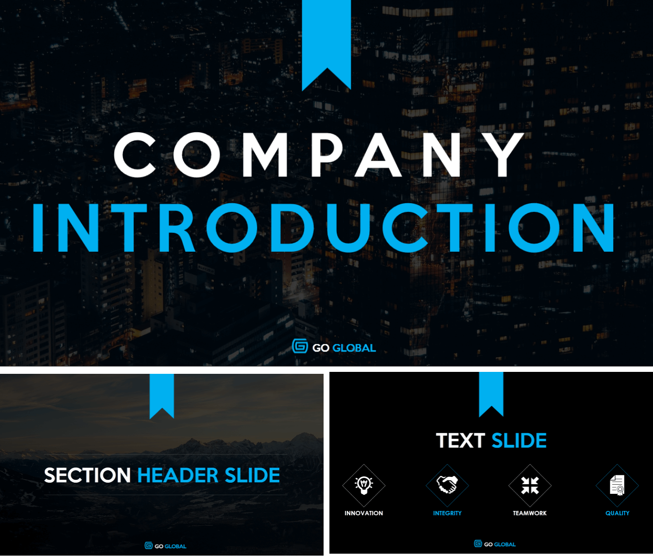 7 amazing powerpoint template designs for your company or personal keeping this fact in mind we have created a visually rich modern company introduction template for you heres the cover slide and two sample text slides toneelgroepblik Gallery