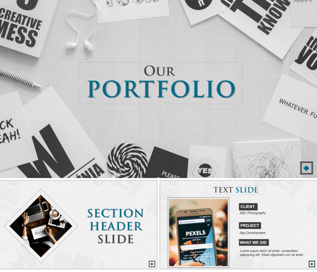 Our Portfolio PowerPoint Template