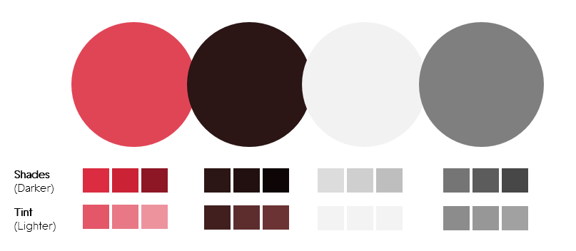 Color Palette 1- Red and Grey