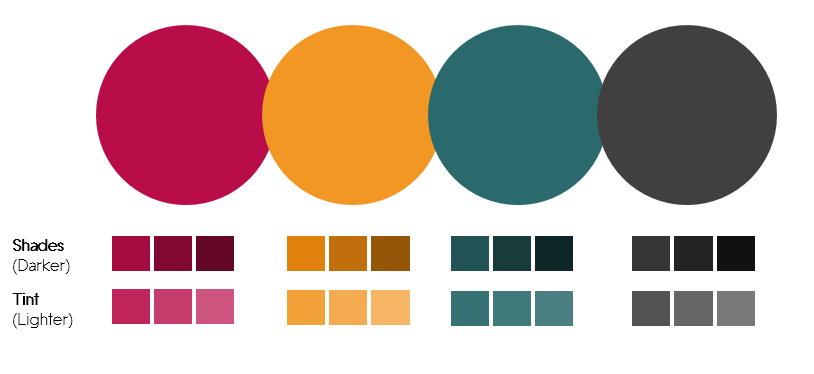 Color Palette 2- Plum, Orange and Teal